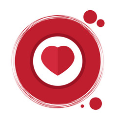 label with a heart shape vector image