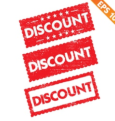 Stamp sticker discount tag collection - - E vector image
