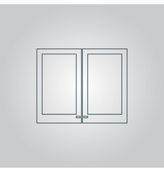Two plastic Window icon sign and button vector image