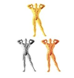 Abstract bodybuilder figure vector image vector image