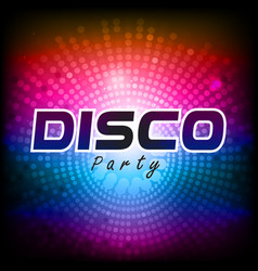 disco party colorful spot light circle background vector image