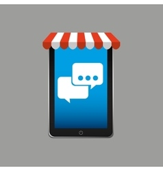 e-commerce concept hand holding smartphone bubble vector image vector image