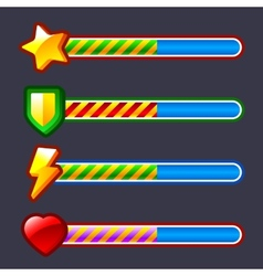 Energy progress loading game bar set vector image