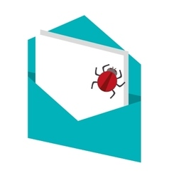 envelope with paper bug vector image