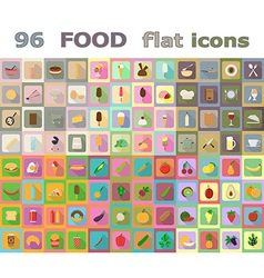 food flat icons 04 vector image vector image