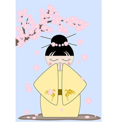 japan girl vector image vector image