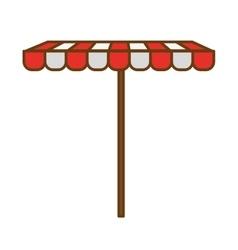 Tent restaurant cafe vector