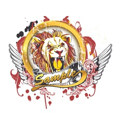 vintage t-shirt design with lion vector image vector image