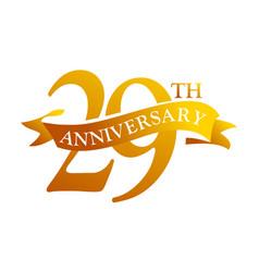 29 year ribbon anniversary vector