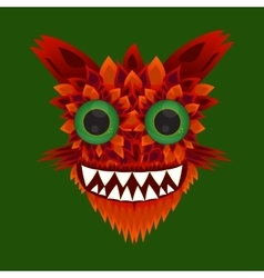 A monster with green eyes vector