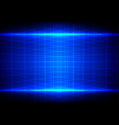 abstract blue light effect and grid perspective vector image