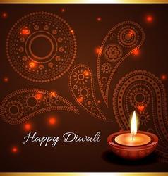 Artistic background of diwali diya vector