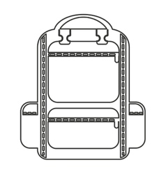 Bag camping isolated icon vector