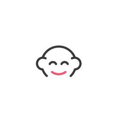 baicon line logo symbol design vector image