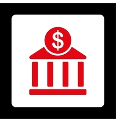 Bank Icon from Commerce Buttons OverColor Set vector image