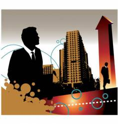 business landscape vector image vector image