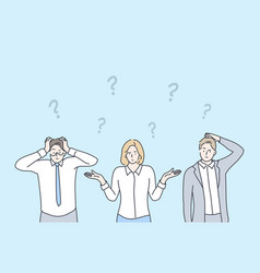 business problem question thinking vector image