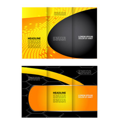 business tri-fold flyer template corporate brochu vector image