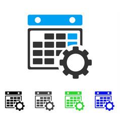 Calendar configuration flat icon vector
