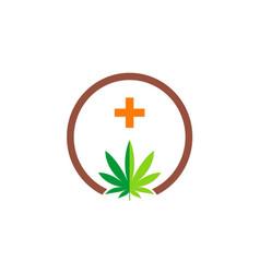 cannabis leaf logo vector image