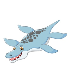 Cartoon happy liopleurodon vector