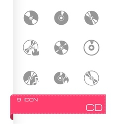 cd icon set vector image