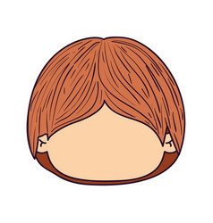 Colorful caricature faceless front view cute kid vector