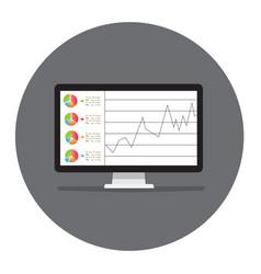 Computer screen laptop smart phone screens with vector