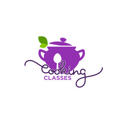 cooking classes logo template image of cooking vector image