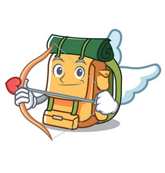 cupid backpack character cartoon style vector image