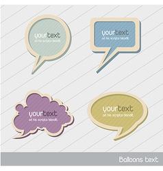 cute balloons text vector image