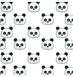 Cute bear panda kawaii character vector