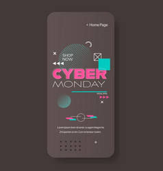 cyber monday big sale flyer advertisement special vector image