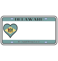 delaware state license plate vector image