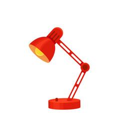 Desk lamp set modern cartoon colorful vector