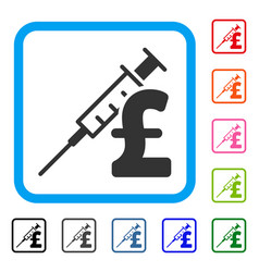 Drug pound business framed icon vector