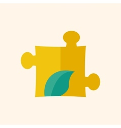 Eco Puzzle Flat Icon vector