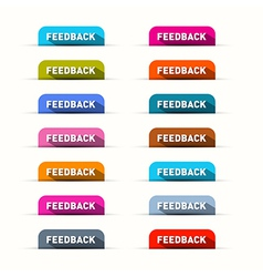 Feedback Icons Set Isolated on White Background vector image