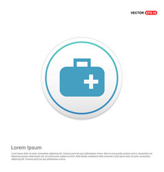 First aid medical kit icon hexa white background vector
