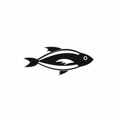Fish icon in simple style vector image