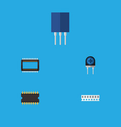Flat icon appliance set of mainframe transducer vector