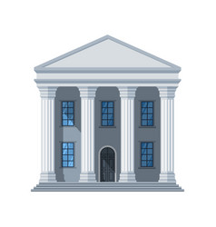 Flat public building icon administrative vector