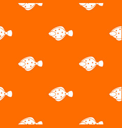 Flounder fish pattern seamless vector