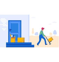 food delivery service concept online order vector image