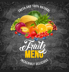 fruits menu vector image