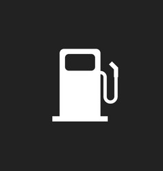 Fuel gas station icon car petrol pump flat vector