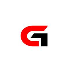 Gc letter logo vector