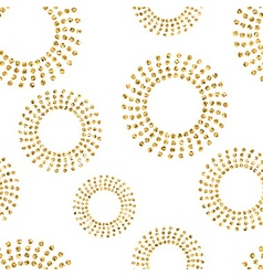 Gold concentric circle seamless pattern 2 white vector image