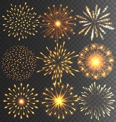 Golden Festive Firework Salute Burst on Black vector image