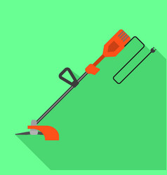 Grass trimmer icon flat style vector